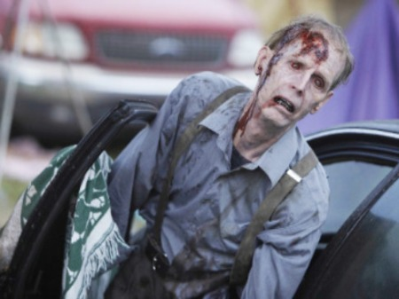 A photo of a Zombie from season 2 of The Walking Dead